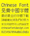 Sharp Slender Bold Figure Font-Traditional Chinese