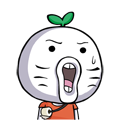 30 Funny green radish head emoji download