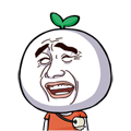 25 30 Funny green radish head emoji download