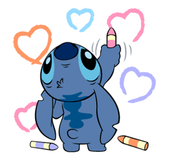 39 82 Stitch Funny chat emoji images are downloaded
