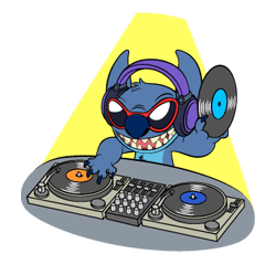 82 Stitch Funny chat emoji images are downloaded