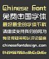 Cute Cartoon Fashion Bold Figure Chinese Font-Simplified Chinese