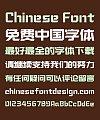 Zao Zi Gong Fang Sharp Bold Figure Chinese Font (Normal Font) -Simplified Chinese