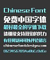 Zao Zi Gong Fang Hard Bold Figure Chinese Font(Normal Font) -Simplified Chinese