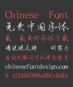Ning Duan Hard Pen Semi-Cursive Script Chinese Font-Simplified Chinese Fonts