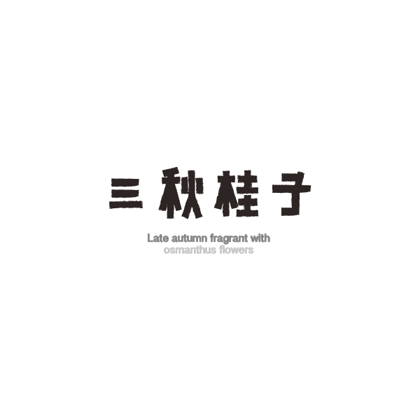 20P Creative design of Chinese font style