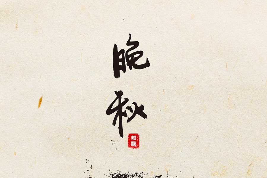 9P Chinese calligraphy style display on film theme
