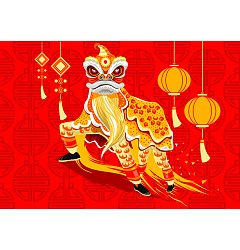 Permalink to Lion dance graphics EPS Free Download China Illustrations Vectors AI ESP