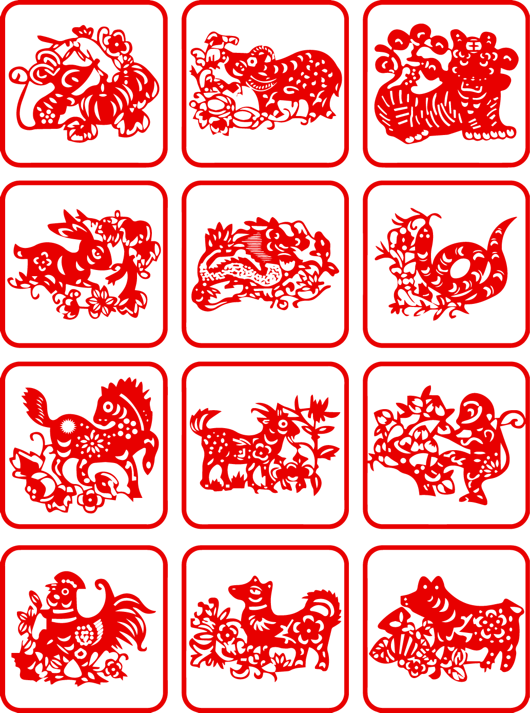 Chinese zodiac design clipart modelling Illustrations Vectors AI Free Download