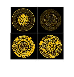 Permalink to Chinese classical art patterns Illustrations Vectors AI Free Download