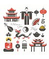 12 Graphic symbol of the Chinese elements China Illustrations Vectors AI ESP Free Downloads