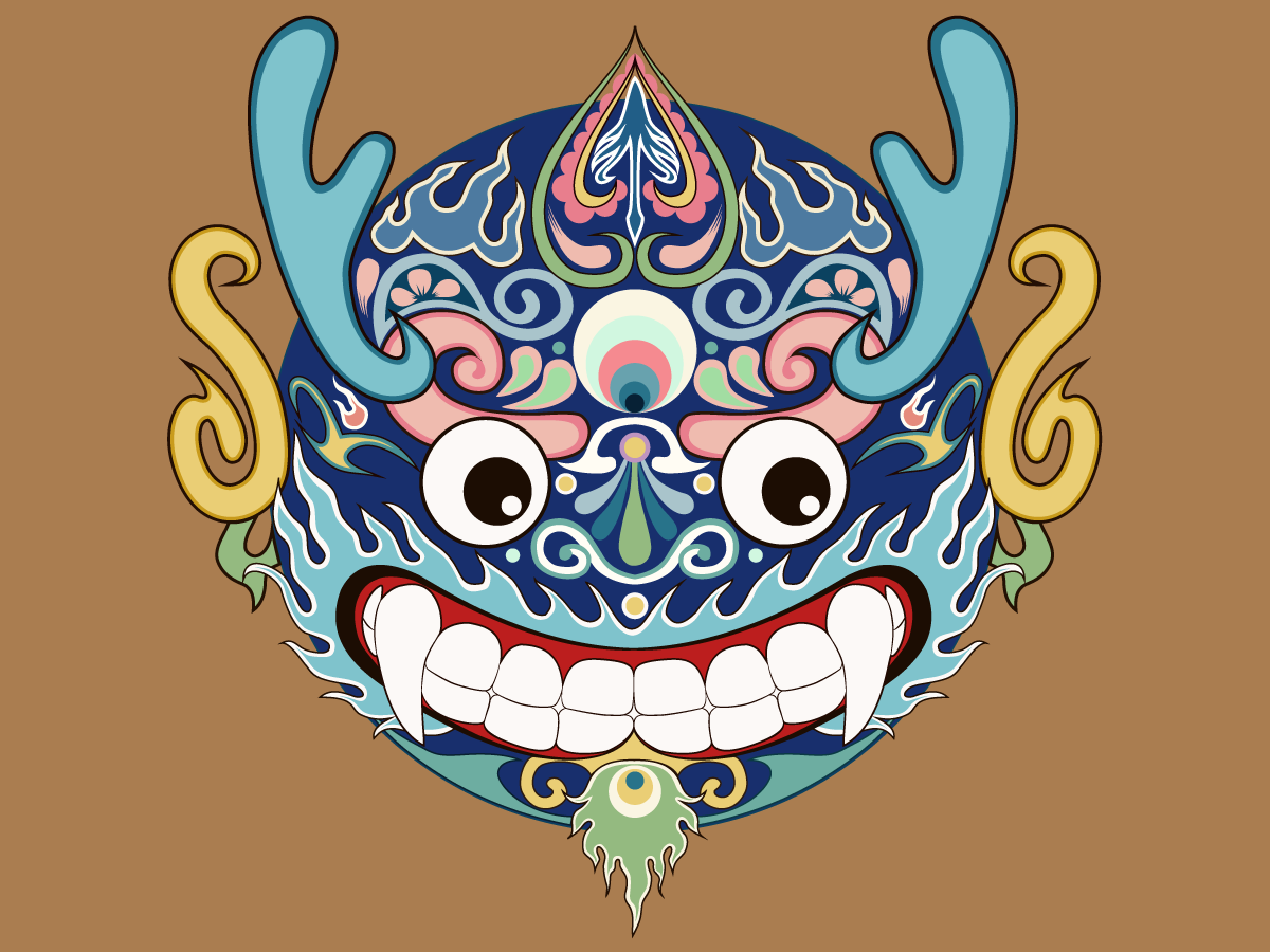 The Monster Nian -China Illustrations Vectors AI ESP