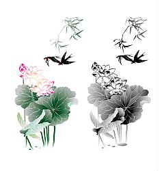 Permalink to The Chinese ink painting lotus vector material – China Illustrations Vectors AI ESP