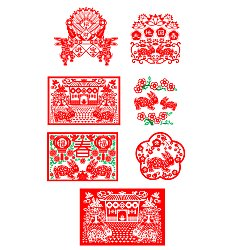 Permalink to 7 The rabbit in the shape of a Chinese paper cutting – happy Chinese New Year Illustrations Vectors AI ESP