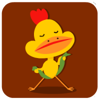 chinesefontdesign.com 2017 01 31 15 35 55 1 40 Lovely big mouth chicken emoji free download emoticons