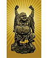 The Chinese figure of Buddha maitreya shape  Illustrations Vectors AI ESP