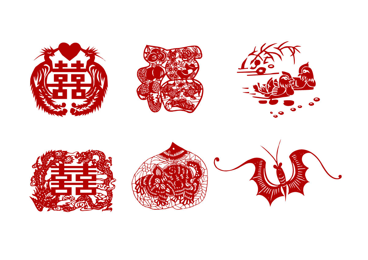 chinesefontdesign.com 2017 02 01 17 58 13 Chinas blessing paper cut art   China Illustrations Vectors AI ESP Chinese paper cut patterns