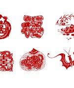 China's blessing paper-cut art – China Illustrations Vectors AI ESP