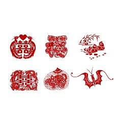 Permalink to China's blessing paper-cut art – China Illustrations Vectors AI ESP