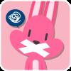 chinesefontdesign.com 2017 02 02 09 22 39 100 Lovely pink rabbit emoji free download