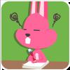 chinesefontdesign.com 2017 02 02 09 22 50 100 Lovely pink rabbit emoji free download