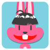 chinesefontdesign.com 2017 02 02 09 22 53 1 100 Lovely pink rabbit emoji free download