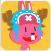 chinesefontdesign.com 2017 02 02 09 23 00 100 Lovely pink rabbit emoji free download