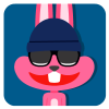 100 Lovely pink rabbit emoji free download