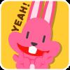 chinesefontdesign.com 2017 02 02 09 23 03 1 100 Lovely pink rabbit emoji free download