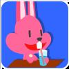 chinesefontdesign.com 2017 02 02 09 23 06 1 100 Lovely pink rabbit emoji free download