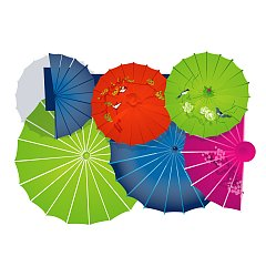 Permalink to Traditional Chinese umbrella graphics – Illustrations Vectors AI Free Download