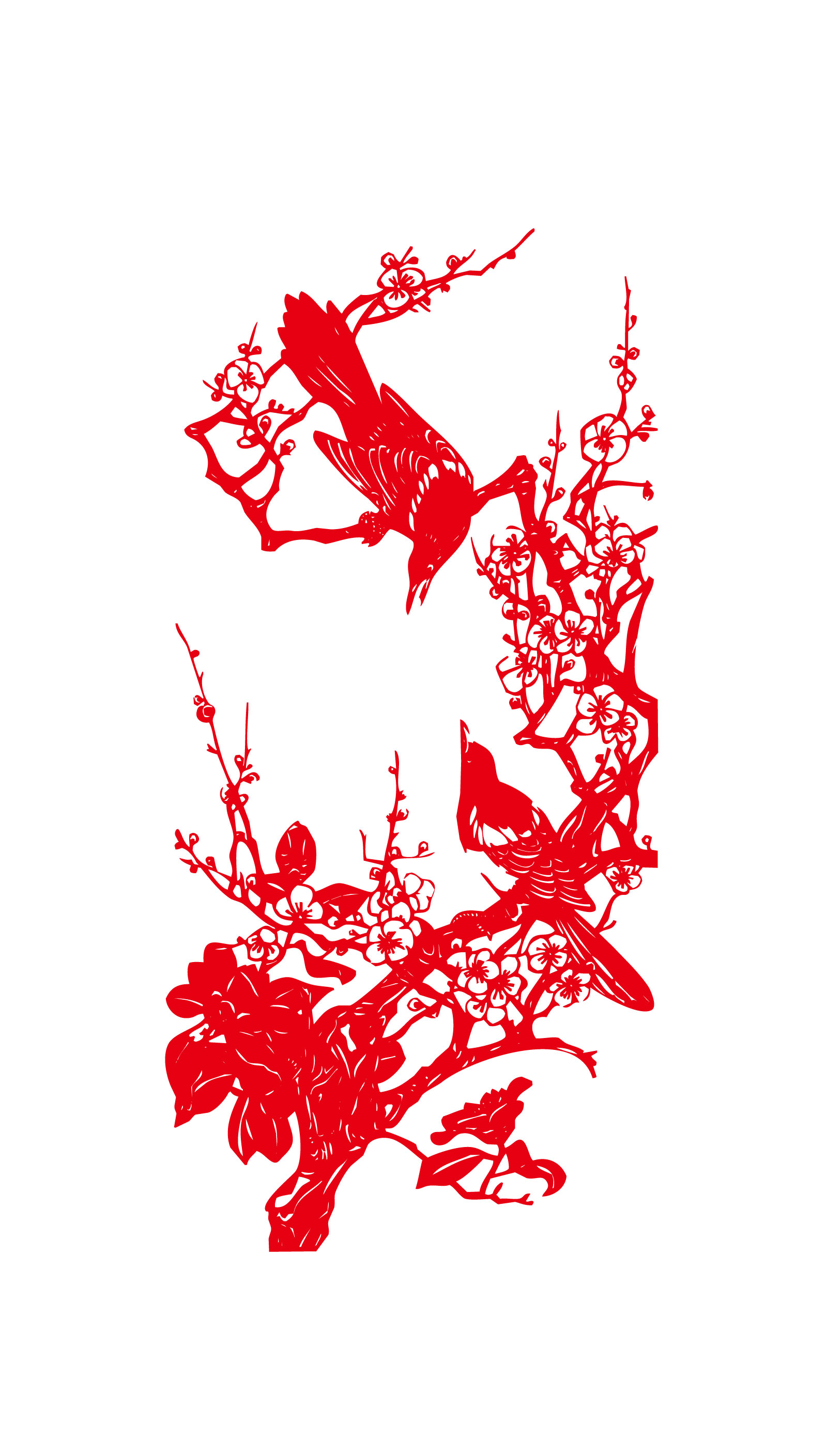 The magpies paper-cut design vector - Illustrations Vectors AI ESP
