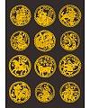 Circular zodiac paper-cut vector Illustrations Vectors AI ESP