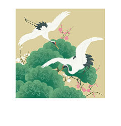 Permalink to The traditional Chinese painting style cranes -Illustrations Vectors AI Free Download