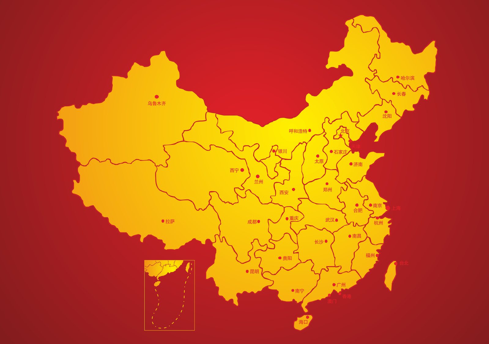 Map of China CorelDRAW Vectors CDR Free Download