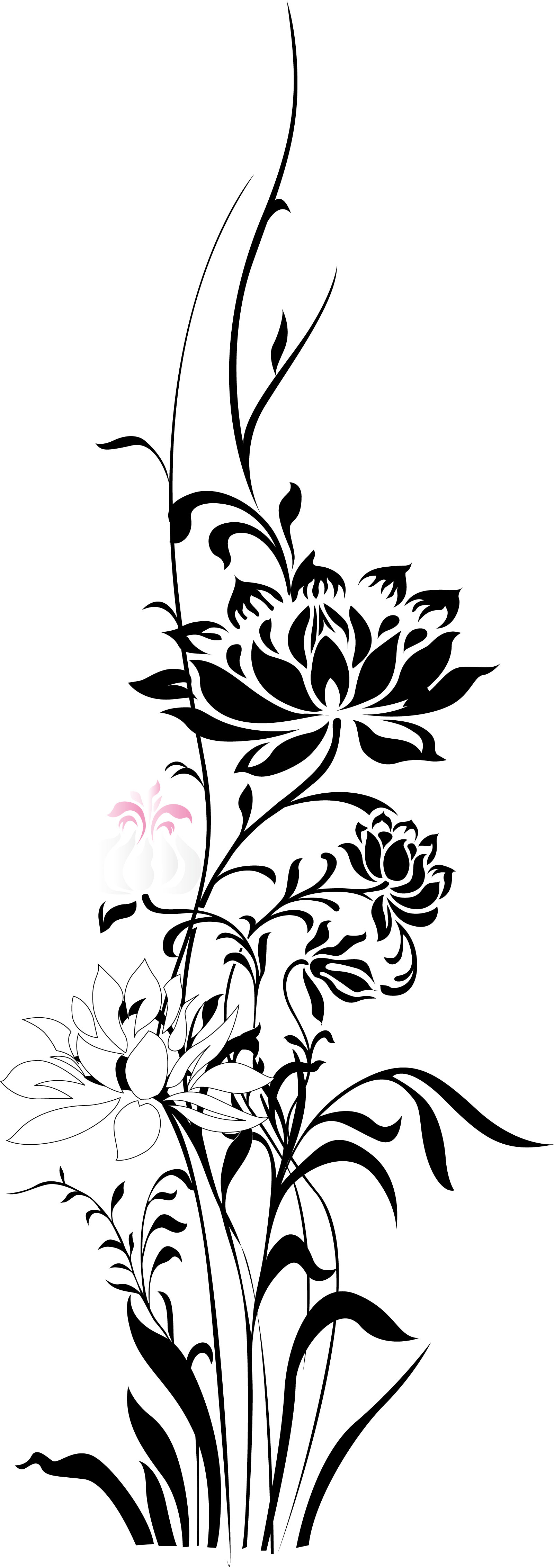 chinesefontdesign.com 2017 03 07 08 40 31 Beautiful lotus flower patterns China Illustrations Vectors AI ESP