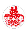 Beautiful Chinese traditional wedding paper-cutting art design – Vectors Free Download #.2