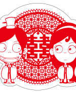 Beautiful Chinese traditional wedding paper-cutting art design – Vectors Free Download #.3