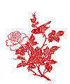 Peony paper cutting pattern vector diagram China Illustrations Vectors AI ESP Free Download