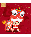 Lovely boy lion dance cartoon image – China Illustrations Vectors AI ESP Free Download #.2