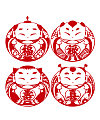 4 blessed baby paper-cut vector diagram Illustrations Vectors AI ESP