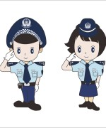 Cute cartoon modelling of the Chinese police CorelDRAW Vectors CDR Free Download