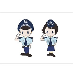 Permalink to Cute cartoon modelling of the Chinese police CorelDRAW Vectors CDR Free Download