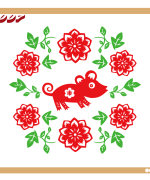 Chinese Spring Festival special stickers pattern – China Illustrations Vectors AI ESP  #.2