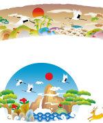Chinese classical auspicious pattern crane vector material – China Illustrations Vectors AI ESP