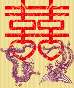 Chinese traditional customs dragon and Phoenix wedding decoration pattern –  China Illustrations Vectors AI ESP Free Download
