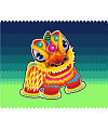 Chinese traditional lion dance vector graphics –  China Illustrations Vectors AI ESP Free Download