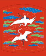 Chinese traditional style auspicious crane modeling vector material – Illustrations Vectors AI ESP