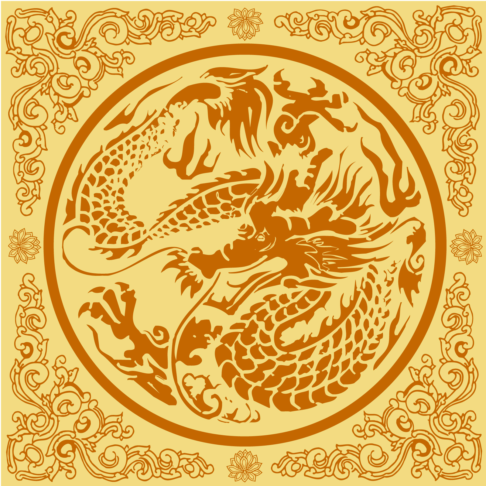 chinesefontdesign.com 2017 03 29 18 36 44 Traditional Chinese classical style loong (dragon) pattern vector material   China Illustrations Vectors AI ESP loong vectors loong ai