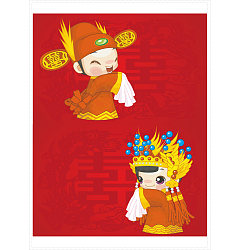 Permalink to Chinese traditional wedding cartoon characters vector material –  China Illustrations Vectors AI ESP